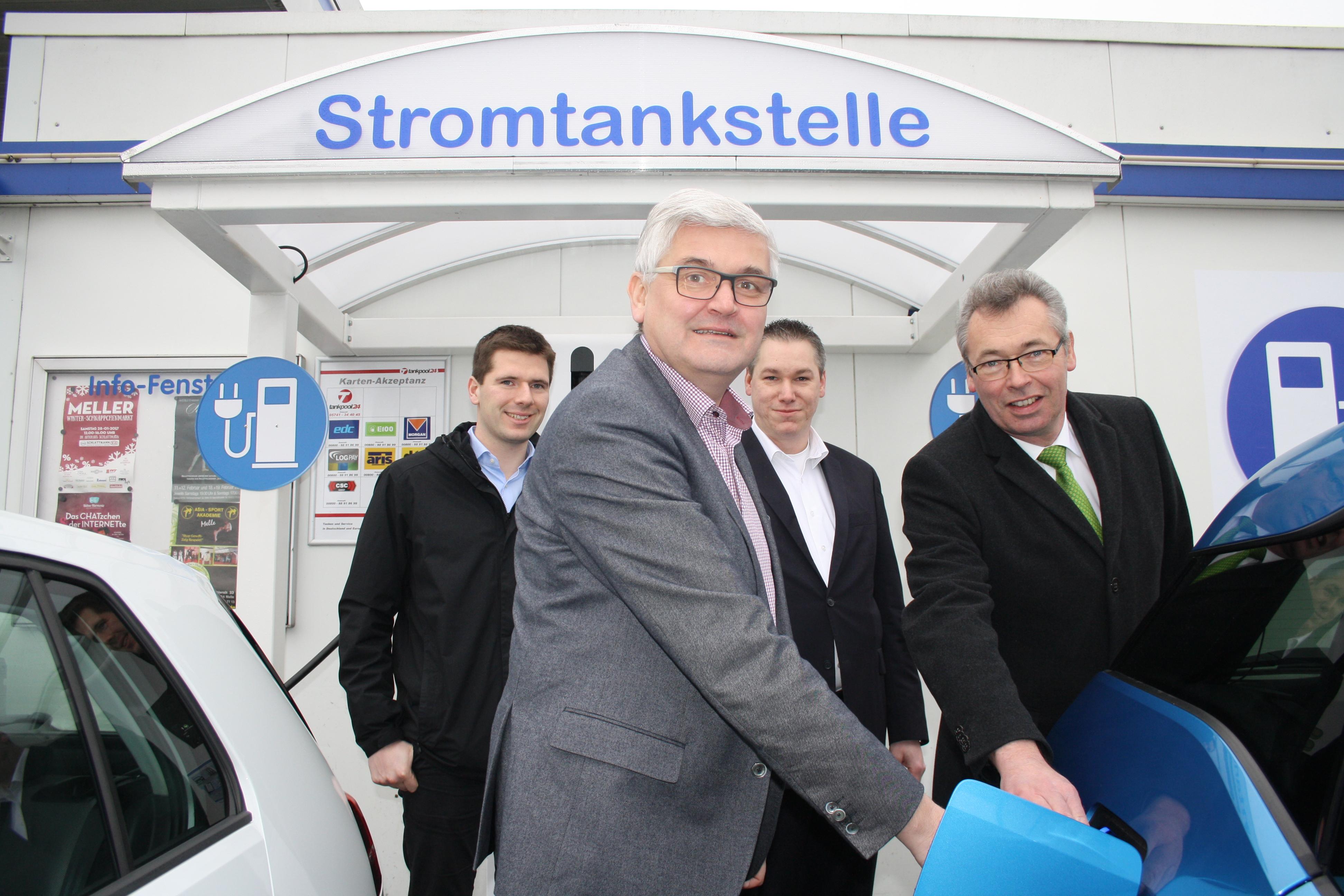 METANK eröffnet erste Stromtankstelle in der Stadt Melle